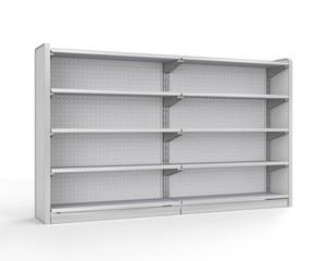 set of shop shelves. 3d image