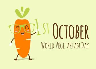 vector world vegetarian day illustration