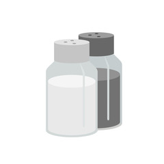 Spices icon. salt and pepper icon on a white background