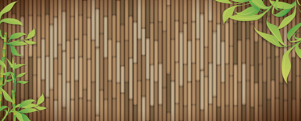 Green bamboo banner