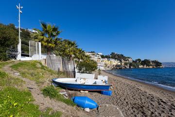Baia (Naples, Italy) - Beach of the little village of Baia, near Naples