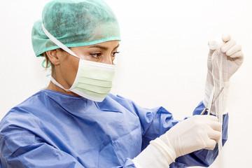 Surgeon working