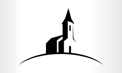 Vector logo Illustration of a Church Fototapete