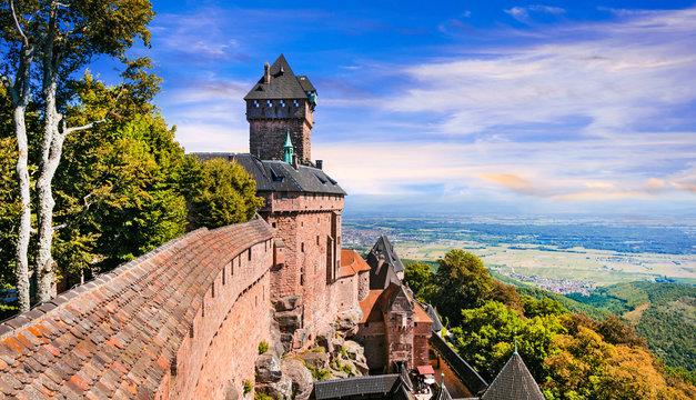 Haut-Koenigsbourg Castle - impressive medieval castle in France