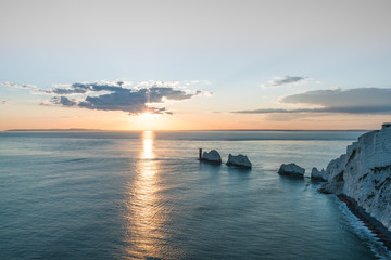 The Needles, Isle of Wight at Sunset