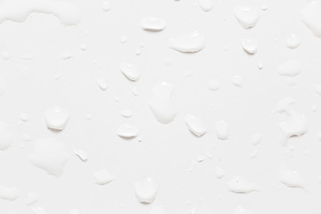 drops of water on a white background