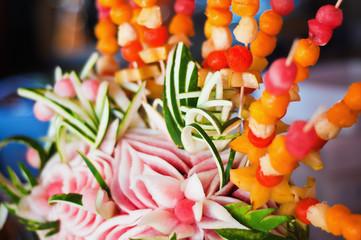 Decorative fruit arrangement