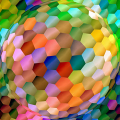 Abstract coloring background of the abstract gradient with visual lighting,mosaic and spherize effects,good for your design