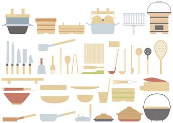 和食の昔ながらの調理器具 日本