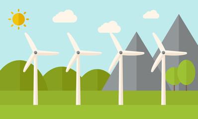 Four windmills