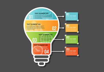 Four Part Bulb Infographic