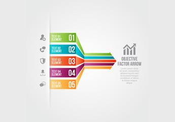 Objective Factor Arrow Infographic