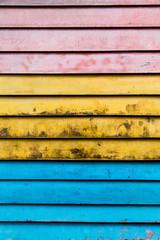 Rainbow wood slats