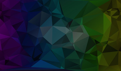 Multicolor blue, yellow, orange polygonal illustration, which co