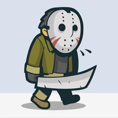 Jason wearing creepy mask