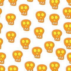 Seamless Skull Pattern. cute pattern