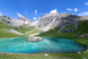 Island Lake in San Juan Mountains near Silverton, Colorado