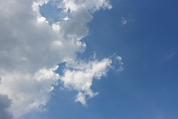 blue sky with clouds. blue sky and  motion raincloud   on clouds