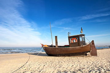 Wall Mural - Fischerboot in Ahlbeck auf Usedom