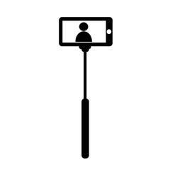 Selfie Stick icon illustration design