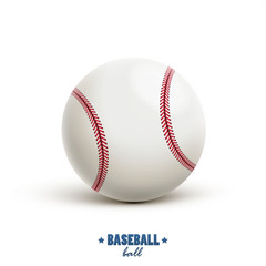 baseball vector realistic object isolated on white