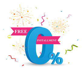 free Installment sale concept