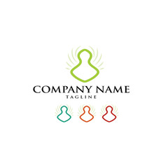 Yoga Namaste Om Pilates Logo Icon Vector
