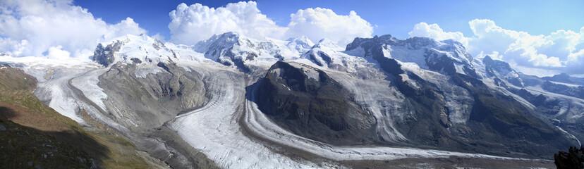 Garden Poster Brown Glaciers at Gornergrat near Zermatt, Switzerland