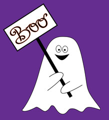 Boo Sign Ghost