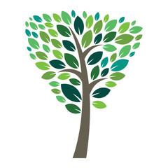 Stylized vector tree logo icon