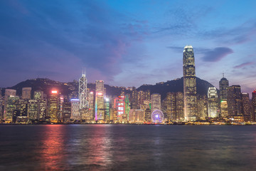 Hong Kong city, view from Victoria Harbour