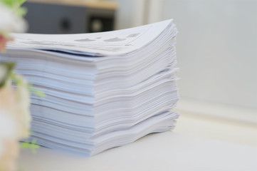 Paperwork at office environment