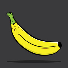 Banana. Cartoon banana.