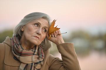 Nice sad old woman
