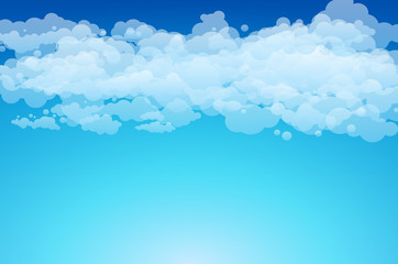 Printed kitchen splashbacks Light blue Editable vector illustration of light clouds in a blue sky made using a gradient
