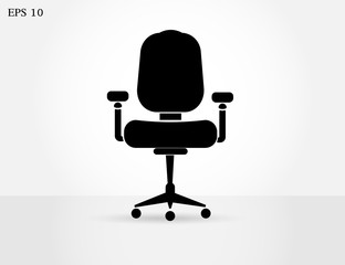 office chair icon. One of set web icons