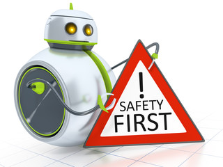 sweet little robot safety first