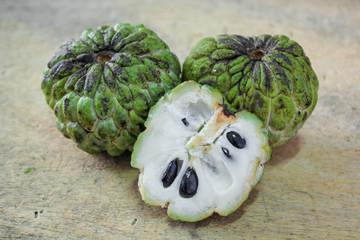 Sugar apple, custard apple (Annona squamosa Linn)