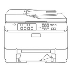Printer outline drawing