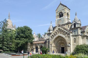 Chapel in castle Vajdahunjad in Budapest, Hungary