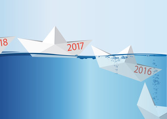 2017 - Bateau en papier