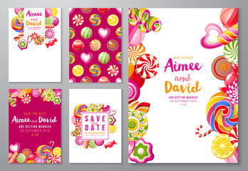 save the date backgrounds with candies