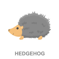 Hedgehog icon cartoon. Singe animal icon from the big animals set.