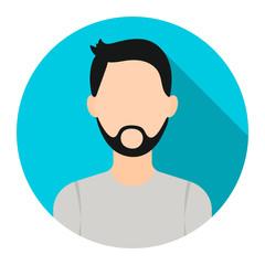 Man with beard icon cartoon. Single avatar,peaople icon from the big avatar set.