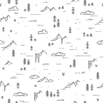 Black and white outdoor seamless background