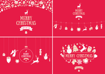 Merry Christmas decoration and card design. Happy New Year