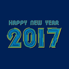 Creative New Year Greeting for 2017