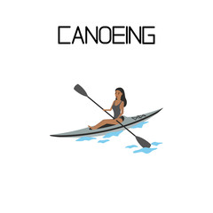 canoeing. extreme sport