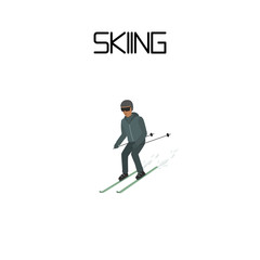 skiing. extreme sport