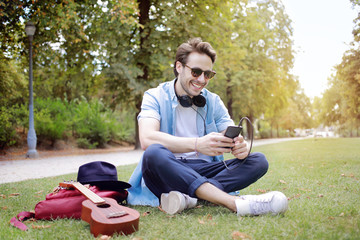 Young man at the park